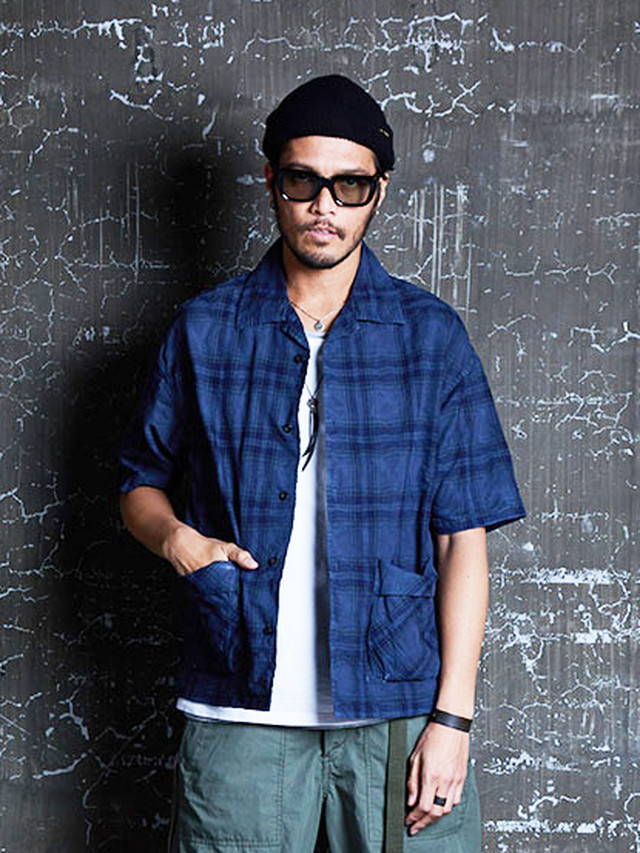 EGO TRIPPING (エゴトリッピング) SWAY CHECK SHIRTS / NAVY 613656-83