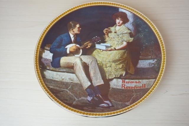 ノーマンロックウェル 絵皿(114-10)