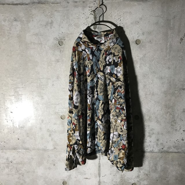 [used] like water painting designed shirt