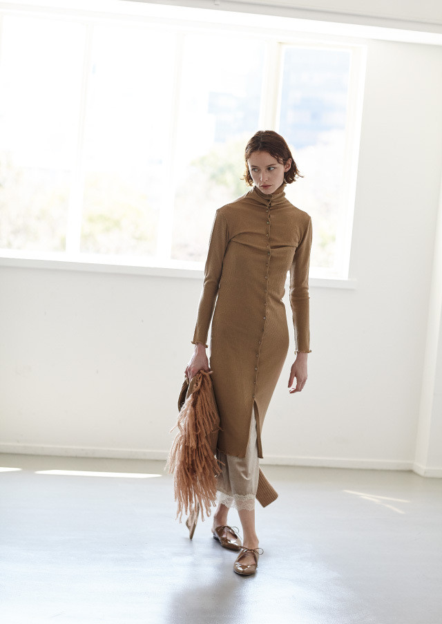 Wool jersey skinny dress