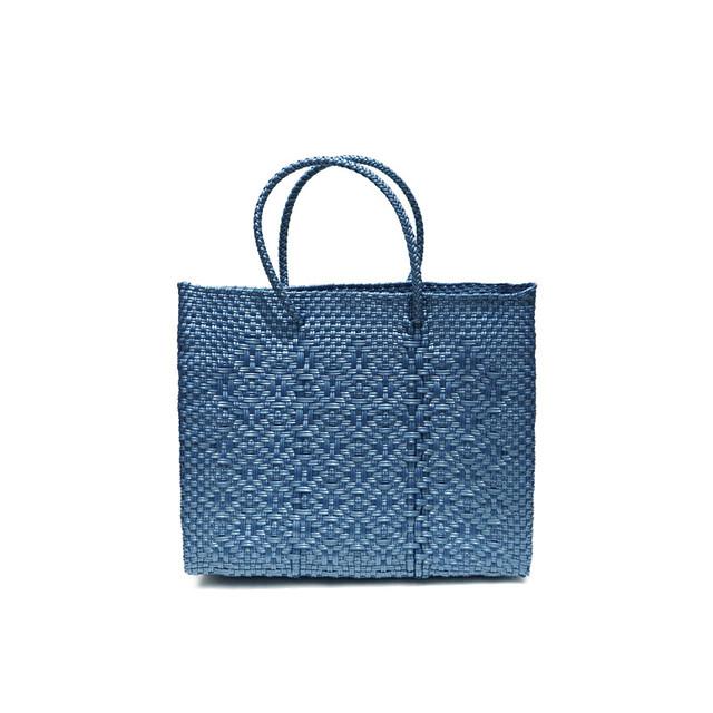 MERCADO BAG ROMBO METALIC - Metalic Blue(XS)