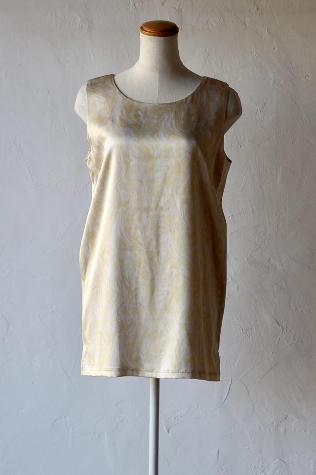 【Eicayoshinari】marble tank-beige