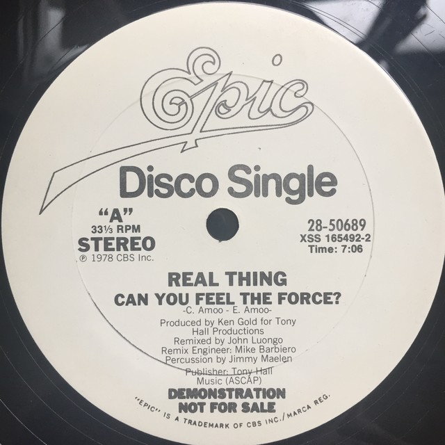 Real Thing‎– Can You Feel The Force?