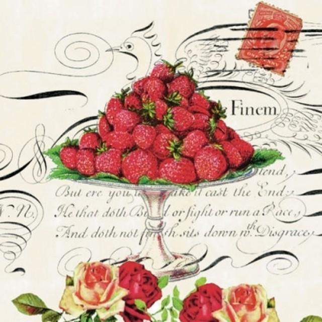【Nouveau】バラ売り2枚 カクテルサイズ ペーパーナプキン Regina クリーム
