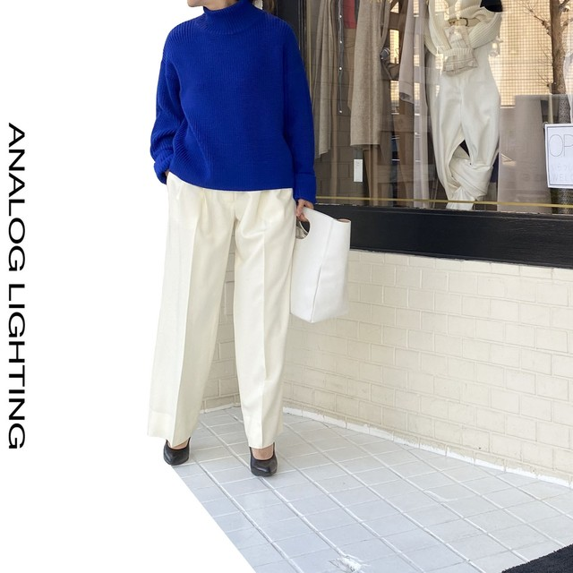 Tuck Wide Pants/IVORY