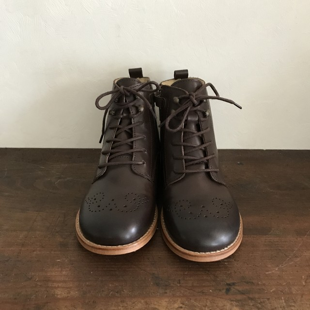 Young Soles : Buster Brogue (Dark Brown Burnished)