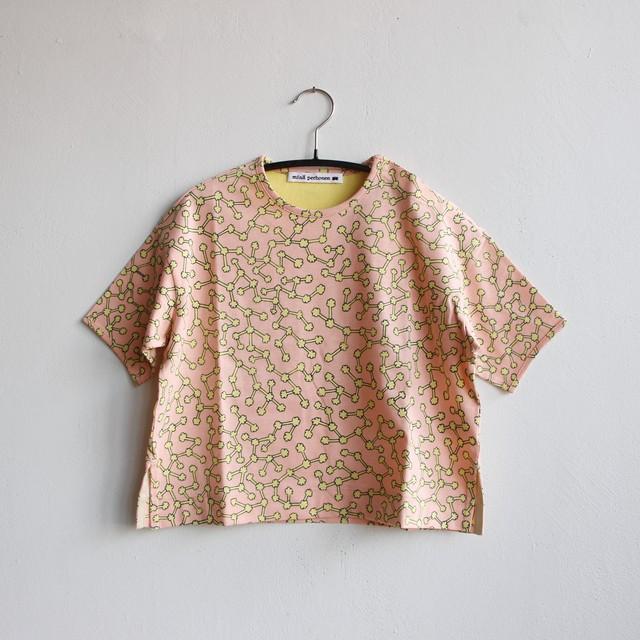 《mina perhonen 2021SS》ensoku 半袖カットソー / pink / 80-100cm
