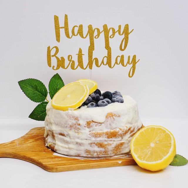 Happy Birthday ケーキトッパー  誕生日 飾り付け