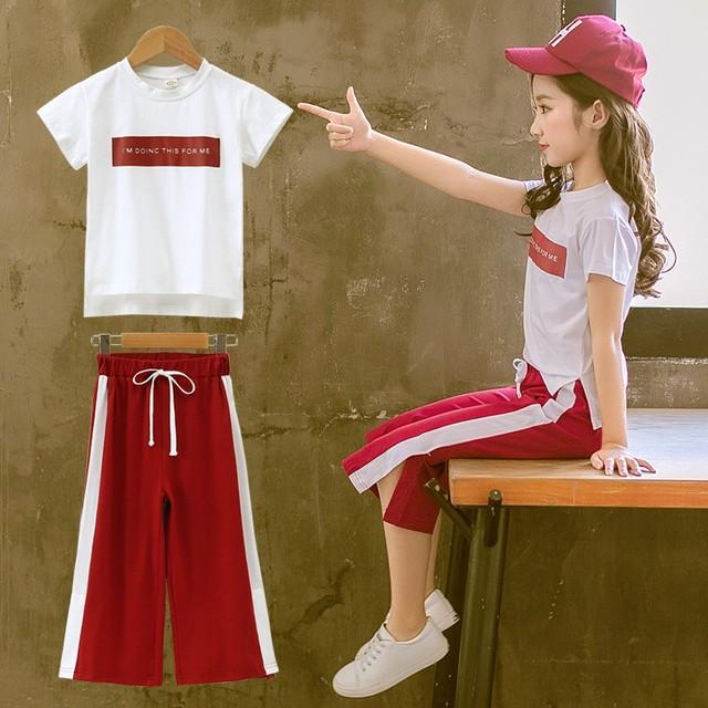 【セット】韓国系 ファッション 着やすい アルファベット 女の子セットアップ29921087