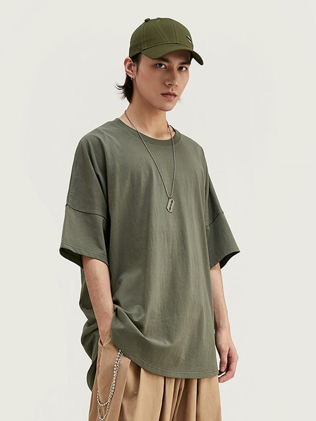 【即日出荷】ラウンドシンプルTシャツ