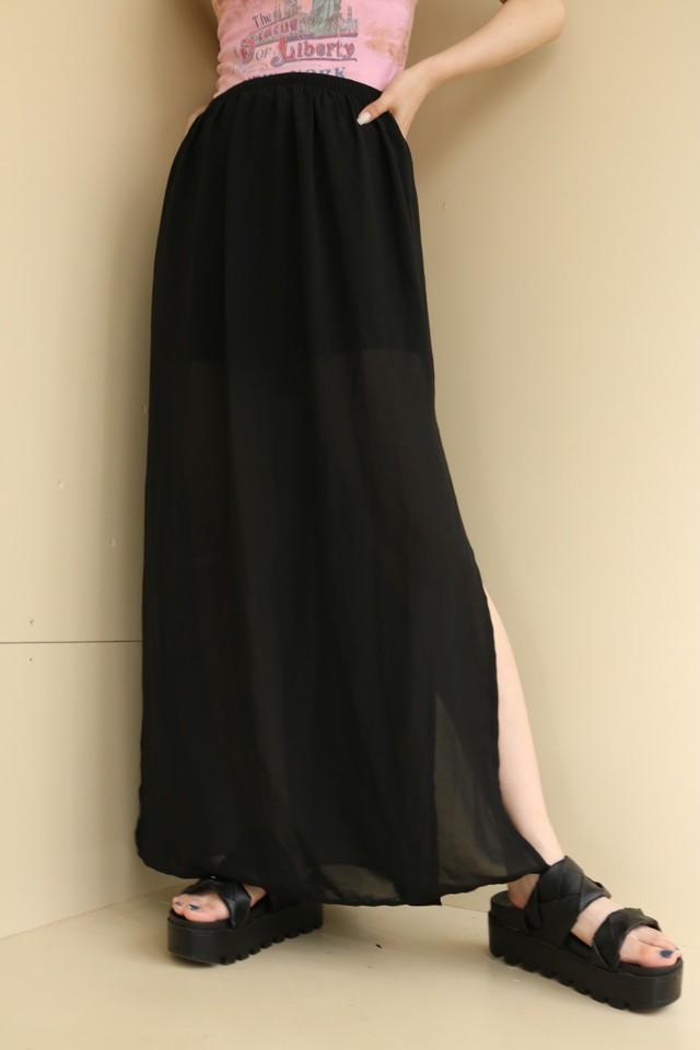 slit tight skirt / 7SSSK09-21