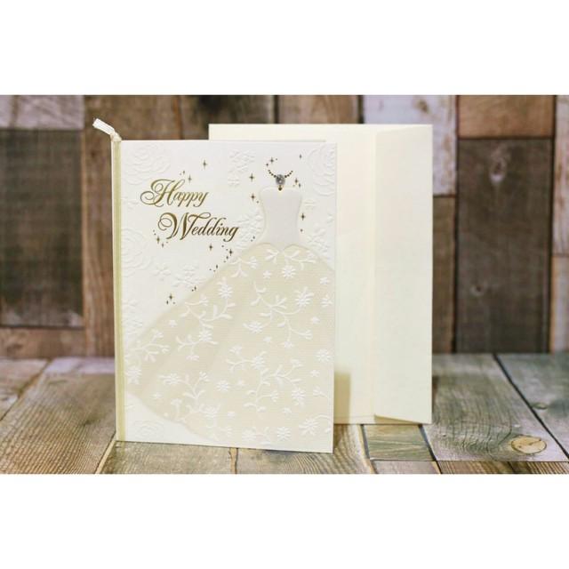 メッセージカード封筒&レターセット【結婚お祝いカード/ドレス/weddingカード】/浜松雑貨屋 C0pernicus