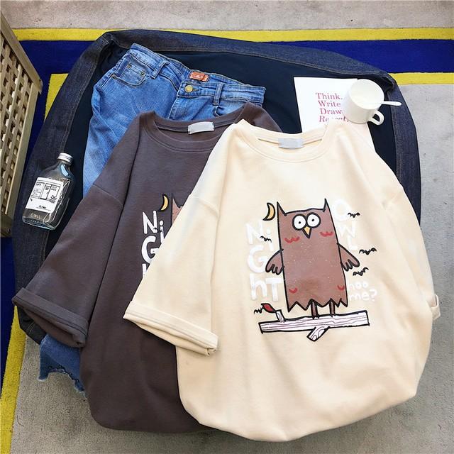 【tops】ファッションプリントカジュアル合わせやすいTシャツ