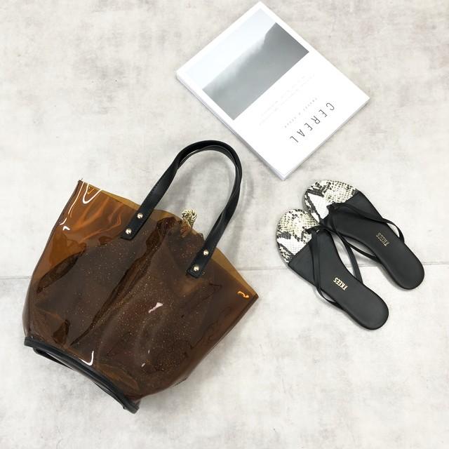 ◆即納◆インナーポーチ付き クリアトートバッグ t72-51