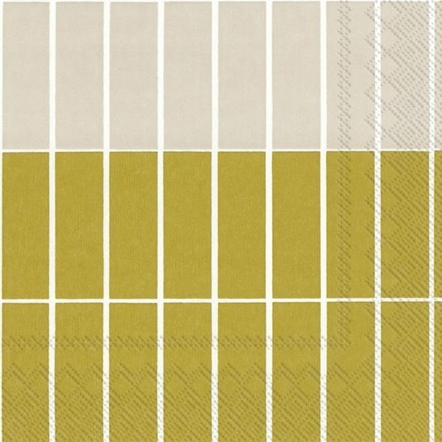 12月8日出荷|2021春夏新作【marimekko】ランチサイズ ペーパーナプキン TIILISKIVI RAITA ゴールド 20枚入り