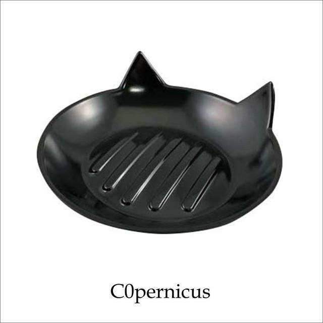 ネコモチーフ 猫型 石鹸トレイ 黒猫ネコ雑貨 猫アイテム/浜松雑貨屋C0pernicus