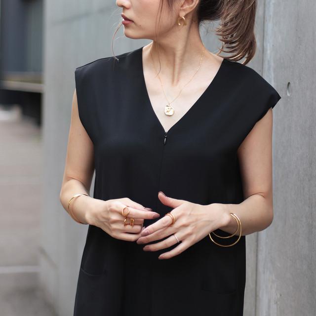 【再入荷】人気ブロガーyokoさんコラボアイテム フレンチスリーブ 2WAYオールインワン(ブラック)