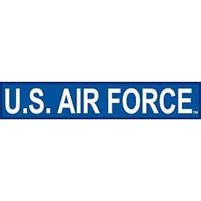 引続きセール主力商品20%OFF!  【ミリタリー】U.S.Air Force Tab [WHT/BLU] 【ワッペン】