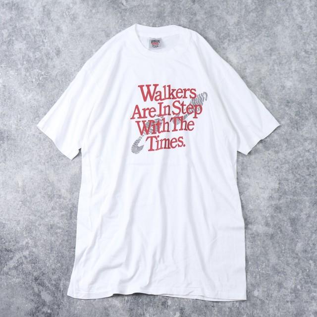 90年代 USA製 Tシャツ 足跡T A194