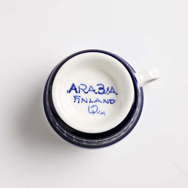 ARABIA アラビア Valencia バレンシア 100mmティーカップ&ソーサー - 30 北欧ヴィンテージ