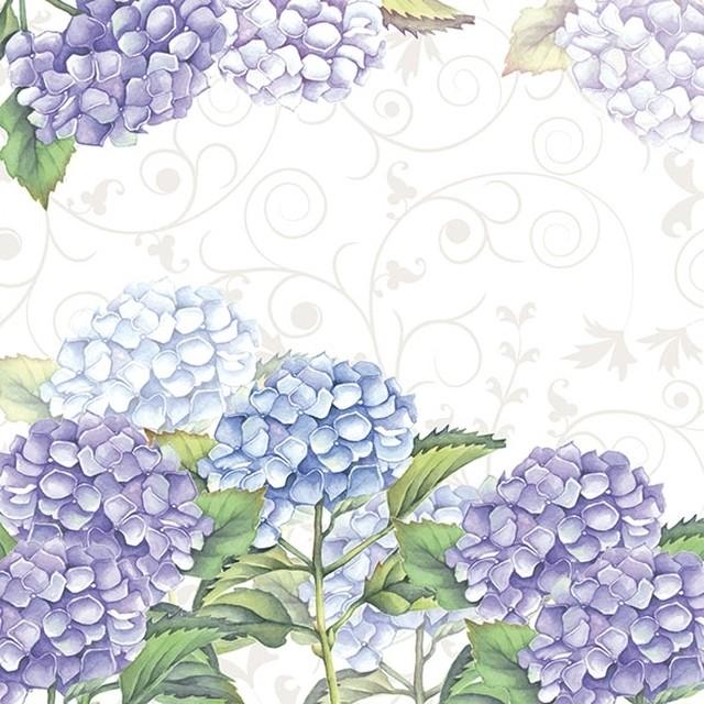 【Ambiente】バラ売り2枚 ランチサイズ ペーパーナプキン Hortensia パープル