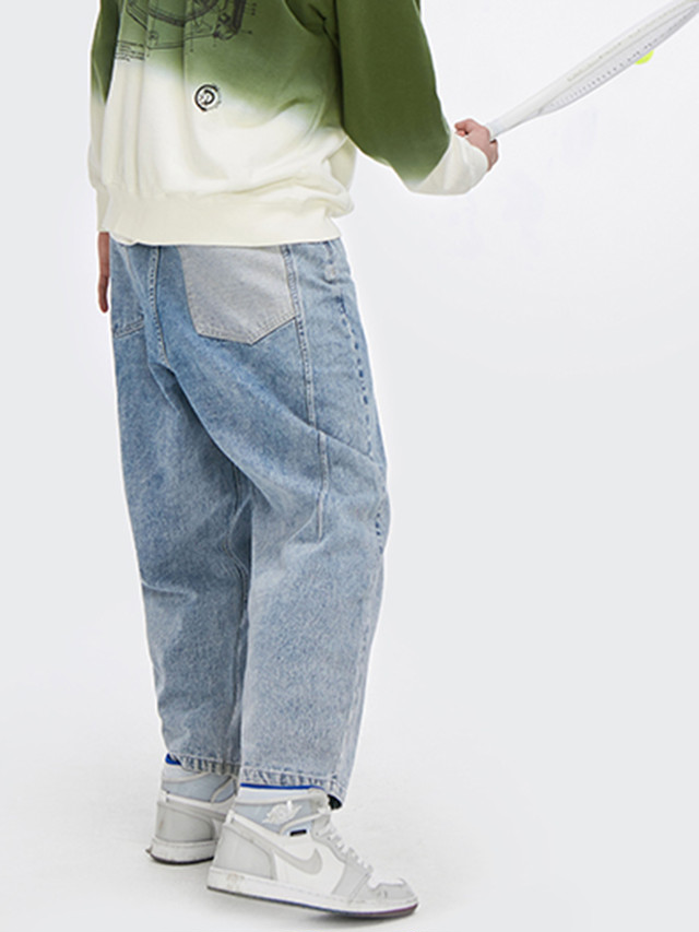 【即日出荷】バイカラーポケットデニムパンツ