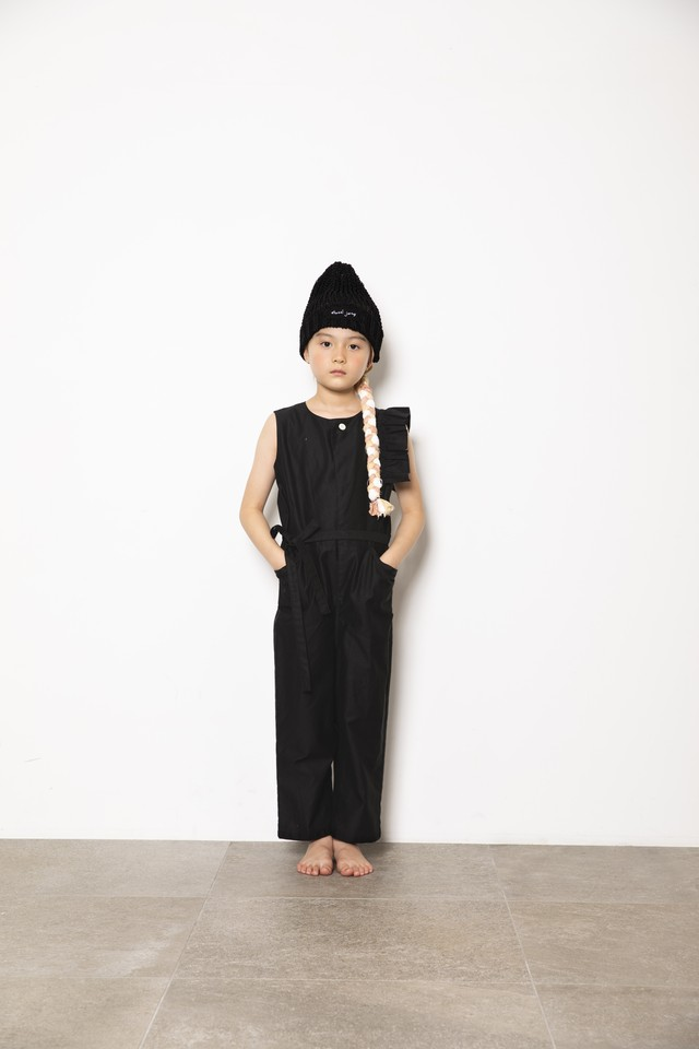 【21SS】folkmade(フォークメイド) handsome coverall black(S/M/L)オールインワン