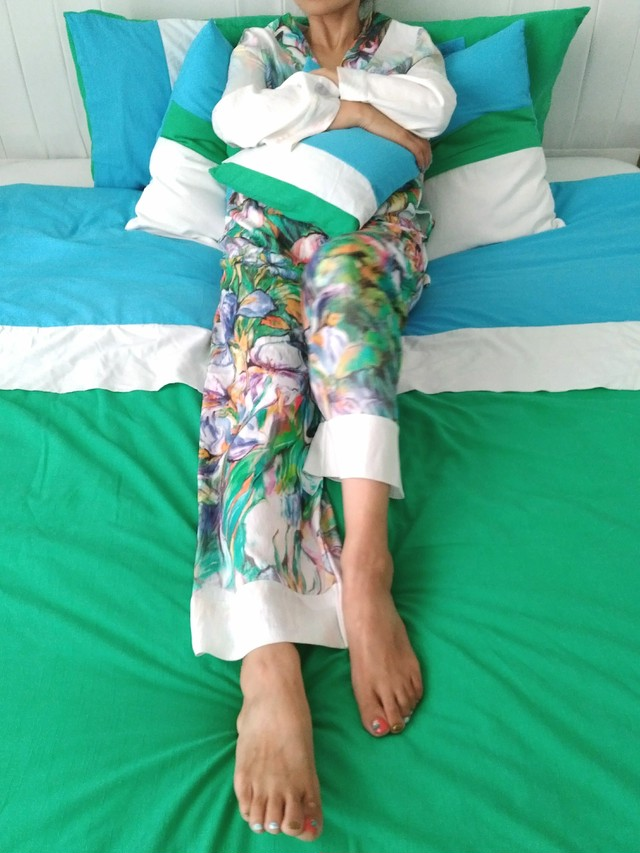 Pajama set up Pansy Mint パジャマセットアップ パンジーミント
