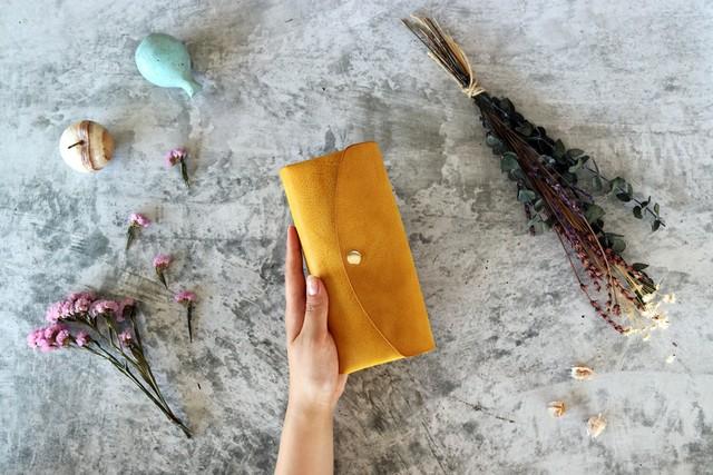 ※完売※アラスカ_イエロー◆外装◆おとな財布◆三つ折り