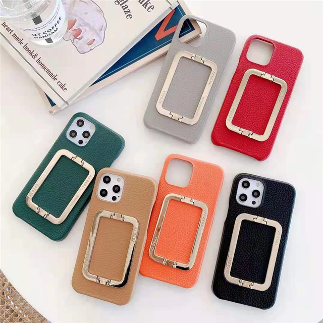 Gold square buckle iphone case