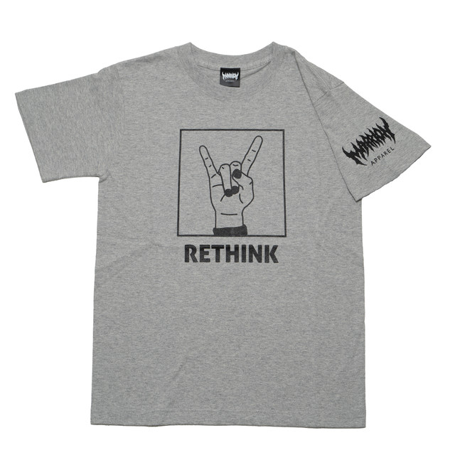 RETHINK T-shirts (MixGRAY×Black)