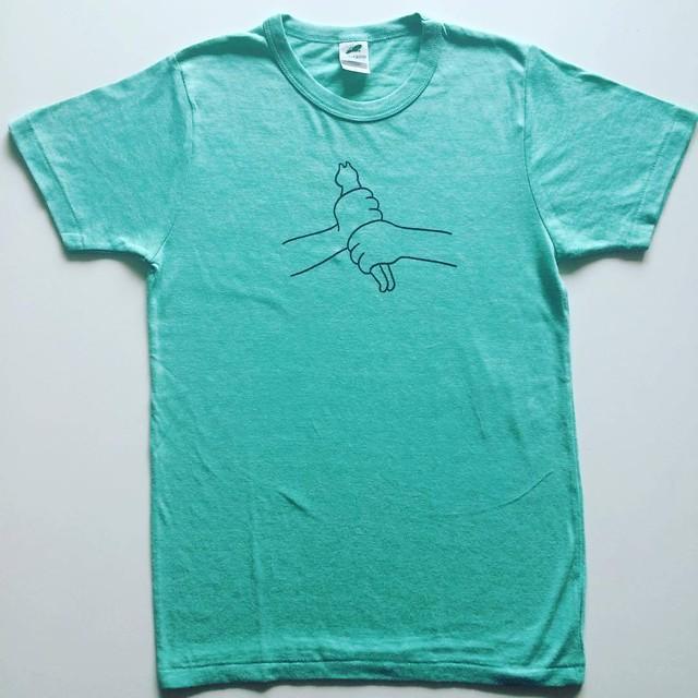 「makomo Tシャツ グリーン Sサイズ」 - メイン画像