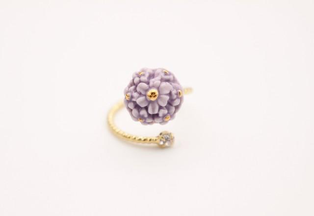 リング flower  紫