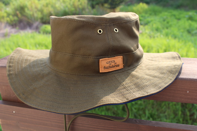 ハット帽 (オリーブ)弱撥水生地