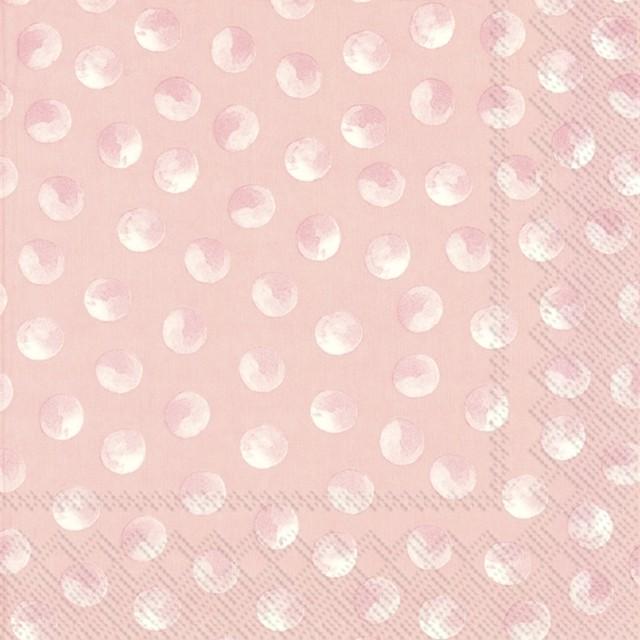 2021春夏【IHR】バラ売り2枚 ランチサイズ ペーパーナプキン PIGGY DOTS ローズ