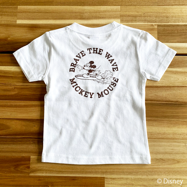 ★Kids★ BRAVE THE WAVE <MICKEY MOUSE> Tee - White