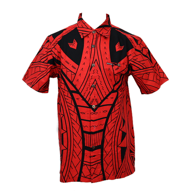 Aloha Shirt 2019 Tribal Red