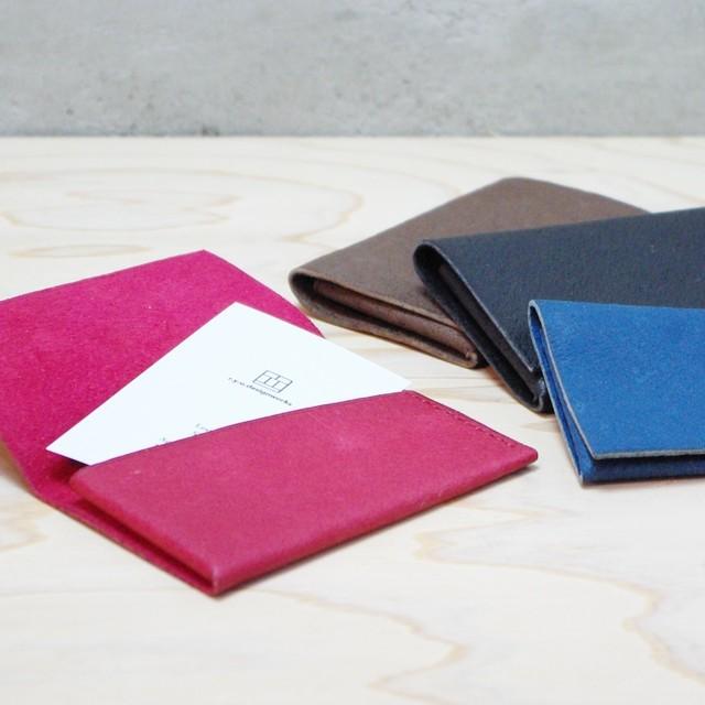 カードケース 名刺入れ 猪革 折革 総手縫い cab-001