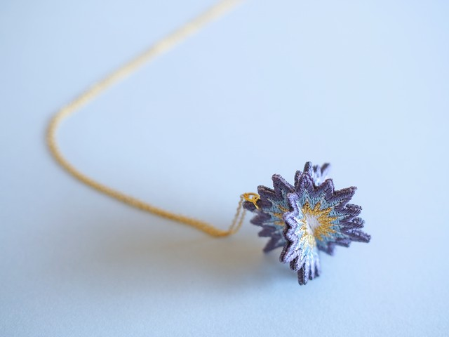 ARRO / Embroidery Necklace / SPUTNIK / grey