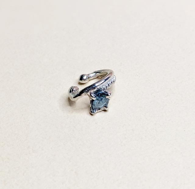 2WAYブルーダイヤモンド イヤーカフ(片方)|RUKUS