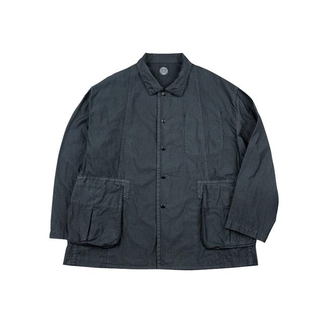 PORTER CLASSIC Poplin Mil-Shirt Jacket Black PC-035-1085-10
