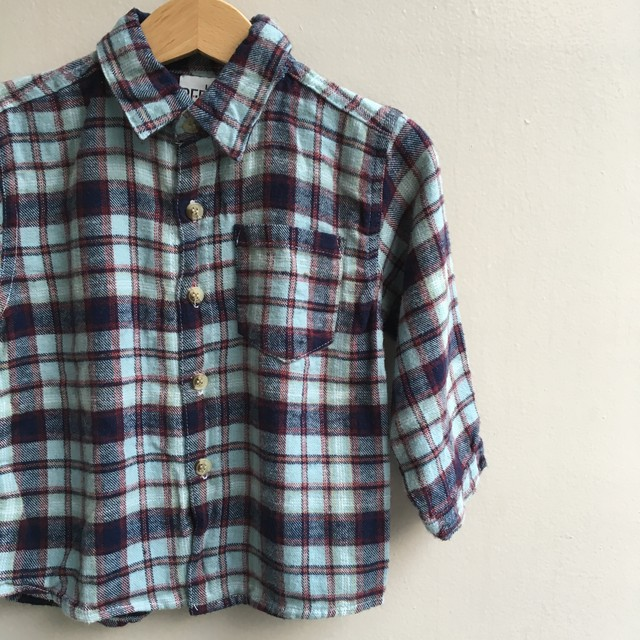 <US USED>Little Rebel CHECK SHIRTS 3T