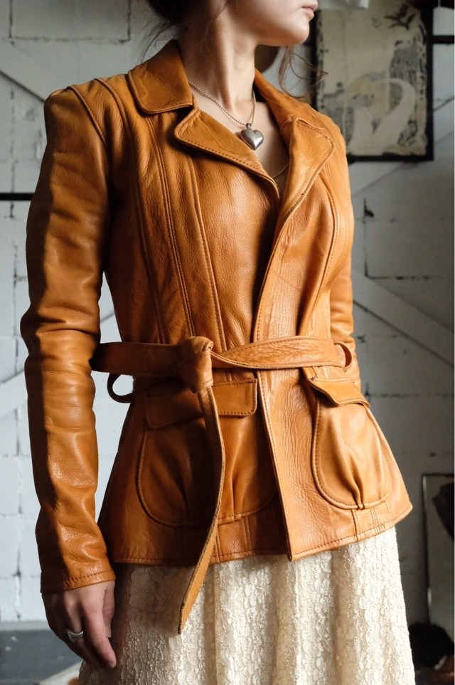 70s East West leather jacket