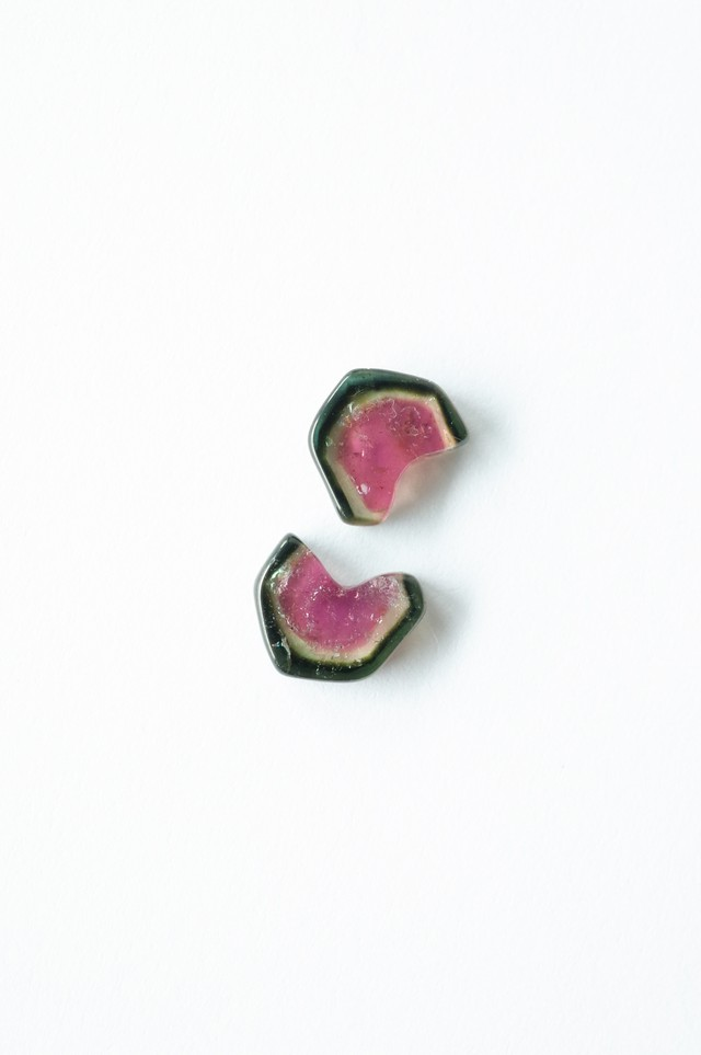 Water Melon Tourmaline / pair-002