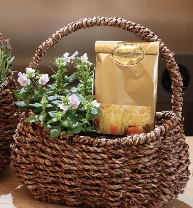季節のお花とフルーツティーのセット