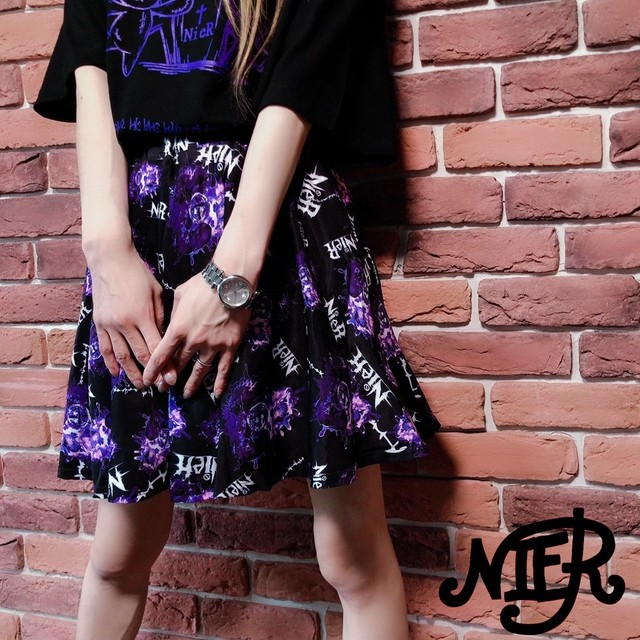 NieR Mini SKIRT【Purple Heart beat】