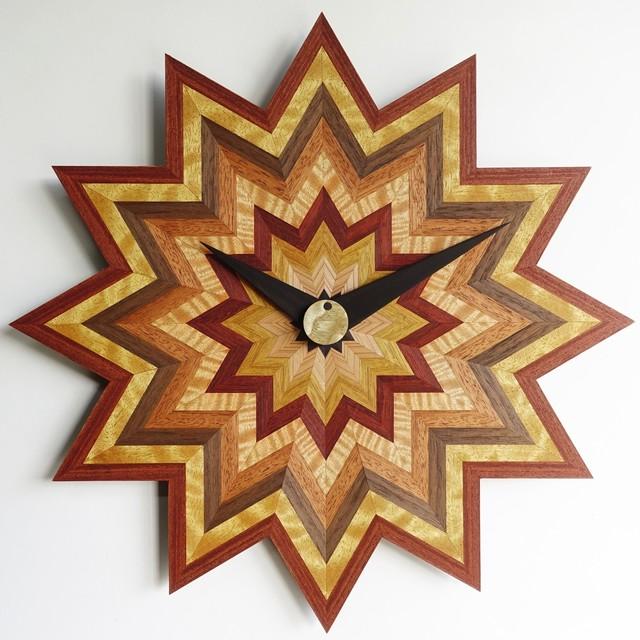 木の掛け時計 CLS-M-凹凸 0010