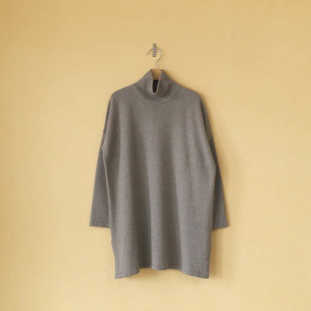 evam eva エヴァムエヴァ wool sable turtleneck tunic