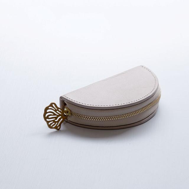 flutter coin case (pink gray)