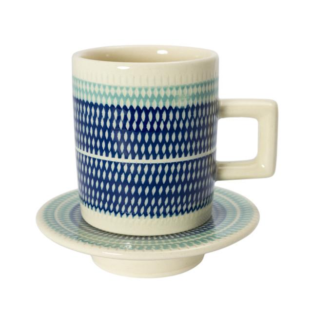 T-kamna コーヒーカップ&ソーサーS ブルー